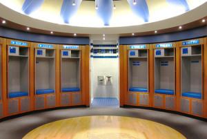University of Memphis Mens Basketball Locker Room at FedEx Forum